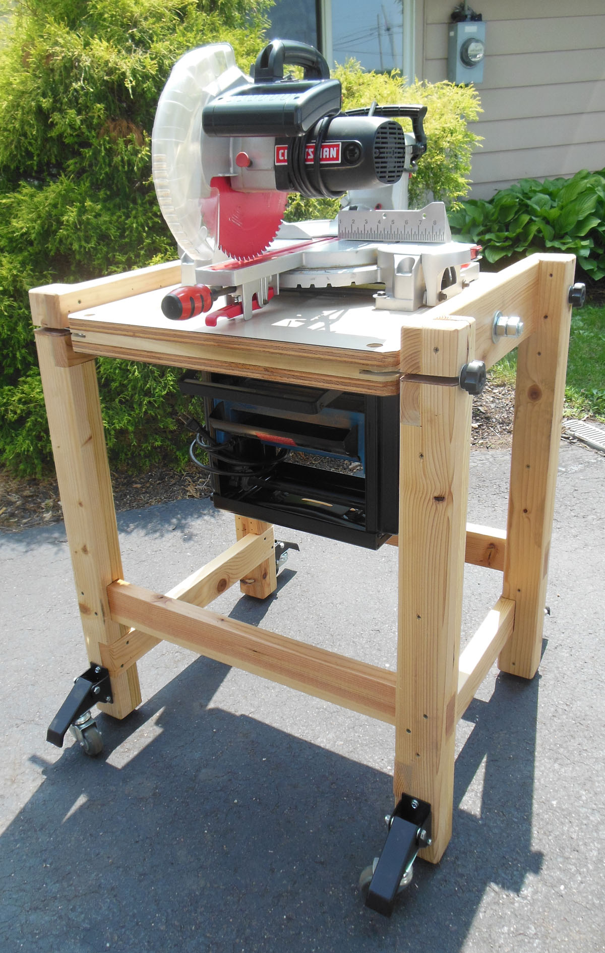 DIY Flip Top Cart for Miter Saw and Planer » Famous Artisan